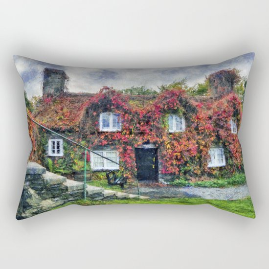 Autumn Cottage Rectangular Pillow