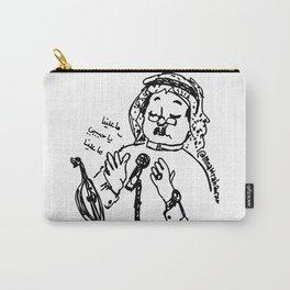 Abu Baker Salim Fan Art sketch black and white lines Oud أبوبكر سالم ما علينا Carry-All Pouch