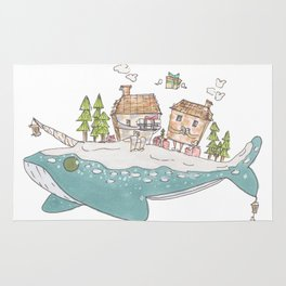 Winter Whale Rug