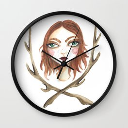 Woman of the Woods Wall Clock