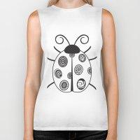 ladybug Biker Tanks featuring Ladybug by Amy Caldwell