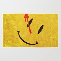 watchmen Area & Throw Rugs featuring The Watchmen (Super Minimalist series) by Itomi Bhaa