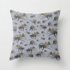 cardboard spiders Throw Pillow