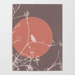 Bird on a branch 2 Poster
