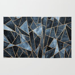Shattered Soft Dark Blue Rug