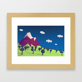 Low-Poly Mountain Framed Art Print