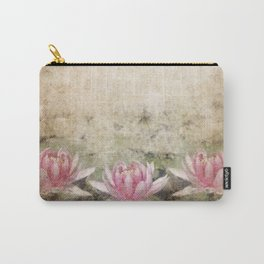 Pink Lotus Grunge Carry-All Pouch
