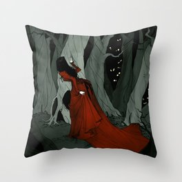 Snow White Lost in the Woods Throw Pillow