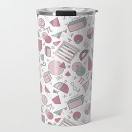 Math on White Travel Mug