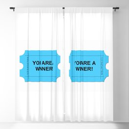 Blue Ticket Blackout Curtain