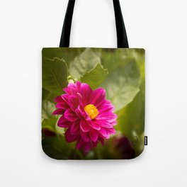 Dark Pink Dahlia in the Garden Tote Bag