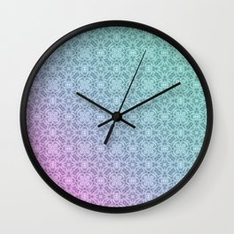 Gradient, ornament 3 Wall Clock