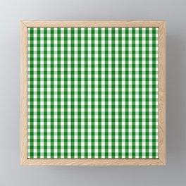 Christmas Green Gingham Check Framed Mini Art Print