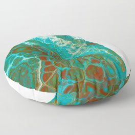 Green abstract Floor Pillow
