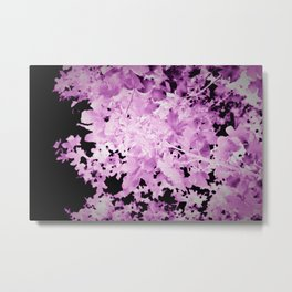 Purple Ultraviolet Leaves Botanical Metal Print