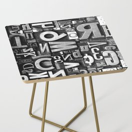 Metal Madness - Typography Photography™ Side Table
