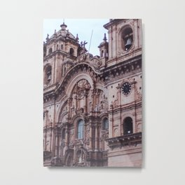Plaza De Armas in Cusco Metal Print
