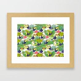 Toucan Paradise Pattern Framed Art Print