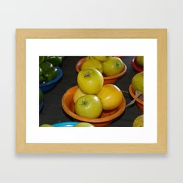 Golden Apples Framed Art Print