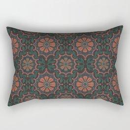 Folk Flower, Vintage Bohemian Floral Pattern Rectangular Pillow