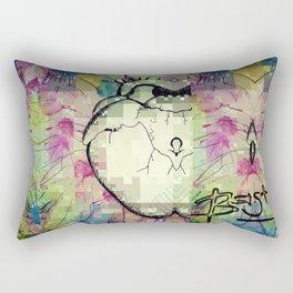PixELATED Heart Rectangular Pillow