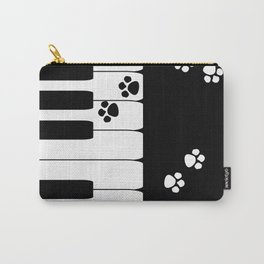 The keys of the piano . Creative black and white pattern . Carry-All Pouch