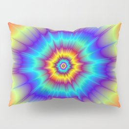 Blasted Blue Red and Yellow Pillow Sham