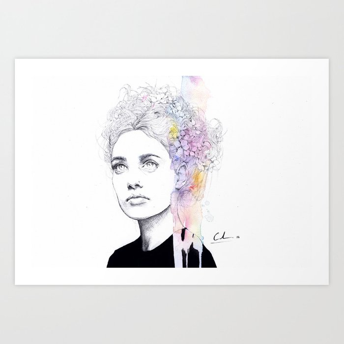 Discover the motif SOFT SPRINGTIME by Agnes Cecile as a print at TOPPOSTER