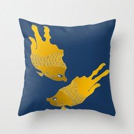 sod off fish twice Throw Pillow