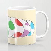 yoshi Mugs featuring Yoshi eggs by Joe Love