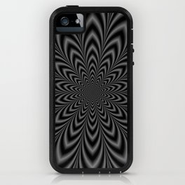 Star Flower in Black and White iPhone Case