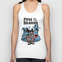 dungeons and dragons Tank Tops featuring PIPES & DRAGONS by Adams Pinto