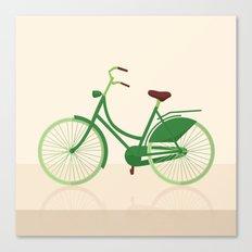 Green citybike Canvas Print