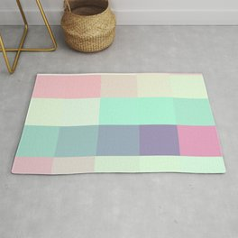 Pixels: Pastel Colors Rug