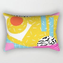 Homefry - abstract pattern memphis retro throwback 80s neon vibes trendy art decor Rectangular Pillow