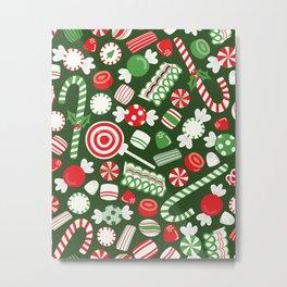 Christmas Candy Traditional Metal Print