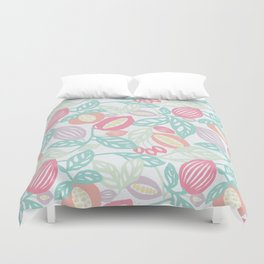 Pastel Fruits Duvet Cover