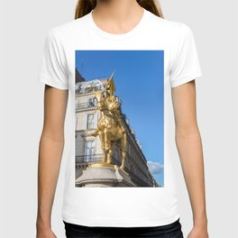 Statue of Joan of Arc on Place des Pyramides in Paris T-shirt