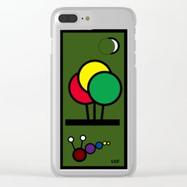 Glow worm Under the Moon Clear iPhone Case