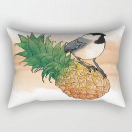 pineapple chickadee! Rectangular Pillow