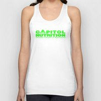 lime green Tank Tops featuring Capitol Lime Green by Capitol Nutrition