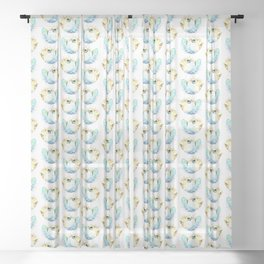 Pufferfish - Puffed up Sheer Curtain