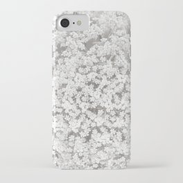 Queen Anne's Lace Flower in Soft Sepia Tones iPhone Case