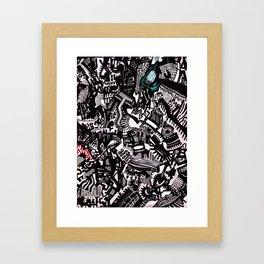 Melting Shapes Framed Art Print