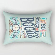 So many books so little time Rectangular Pillow