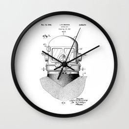 patent art Browne 1945 Diving suit Wall Clock