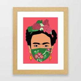 Frida Quarentined Framed Art Print