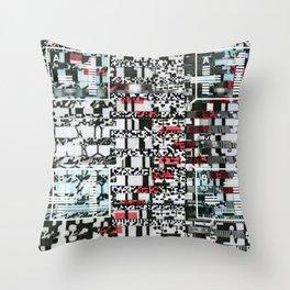 Part Wash (P/D3 Glitch Collage Studies) Throw Pillow