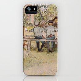 Breakfast under the big birch, 1896 by Carl Larsson iPhone Case