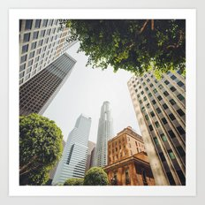 los angeles downtown Art Print
